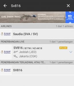 Lacak Nomor Penerbangan Habib Rizieq